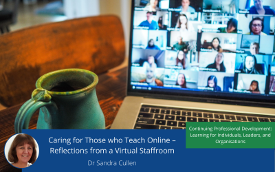 Caring for Those who Teach Online – Reflections from a Virtual Staffroom